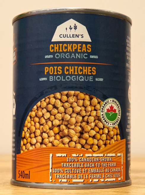 Cullen's Organic Canned Chickpeas, 540mL