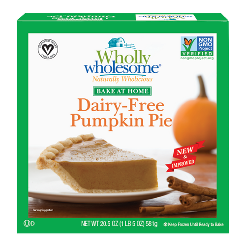 """8"""" Pumpkin Pie - Dairy Free - Wholly Wholesome"""