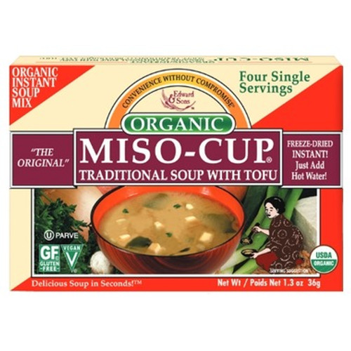 Edward and Sons Organic Miso Cup Traditional With Tofu 36g