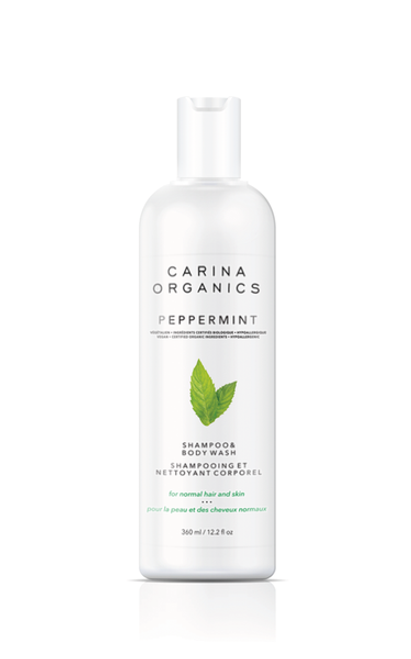 Carina Organics - Peppermint Shampoo & Body Wash 360ml