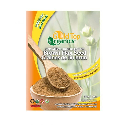 Gold Top Organic Flax Seed Milled 454g