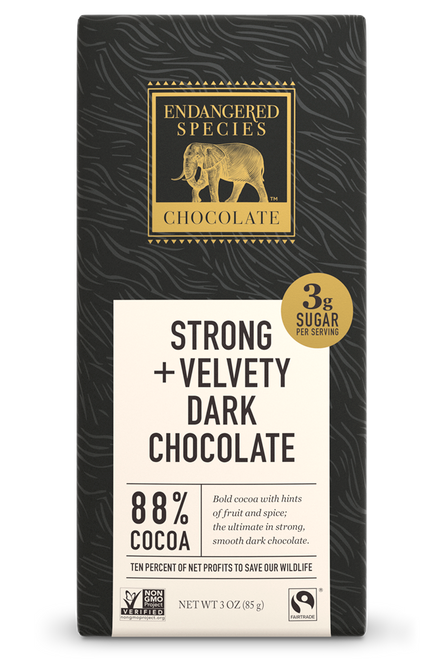 Endangered Species Dark Chocolate Bar 88% Cocoa