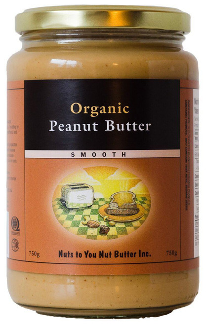 Nuts to You Organic Peanut Butter Smooth 750g