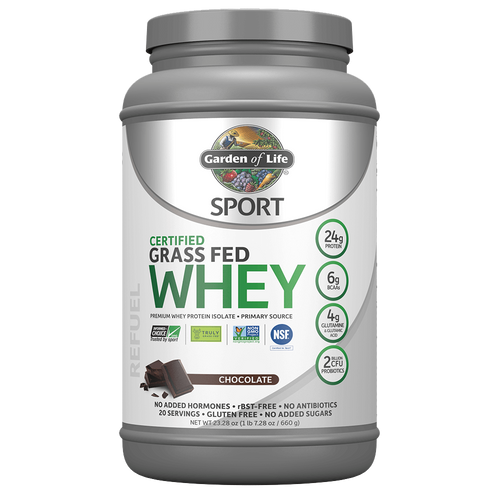 Garden of Life - Grass Fed Whey Protein - Chocolate - 672g