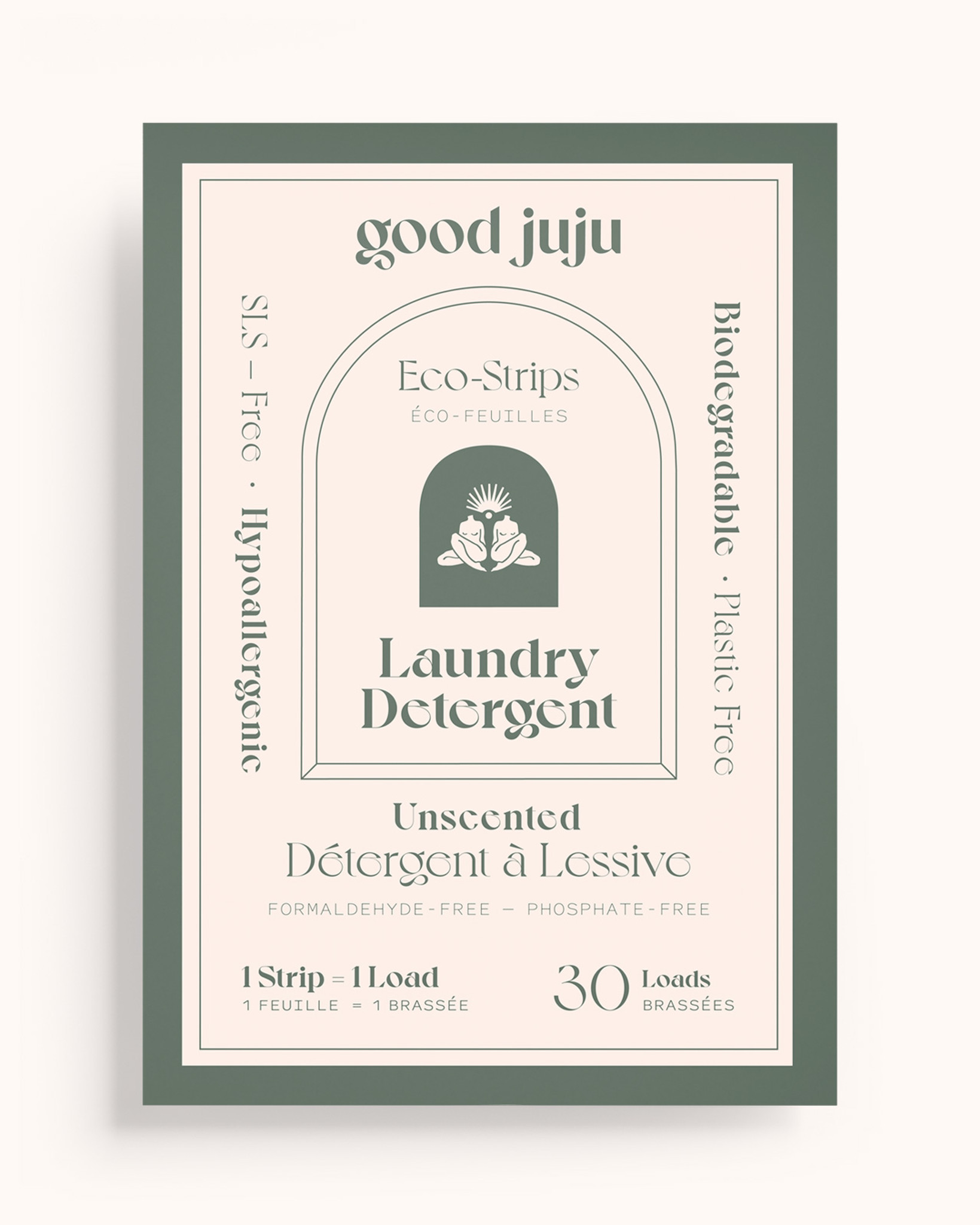 Laundry Detergent Eco-Strips (Unscented)