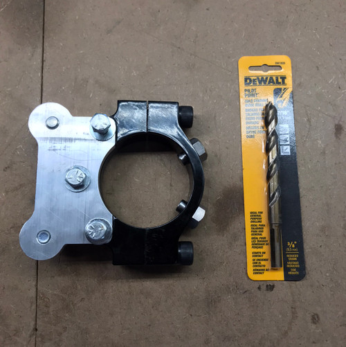 Clamp on Late Model Brake Mount with Drill Bit