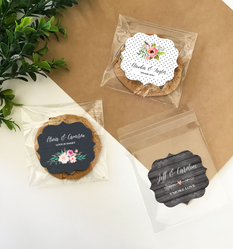 Personalized Floral Garden Clear Candy Bags 12ct