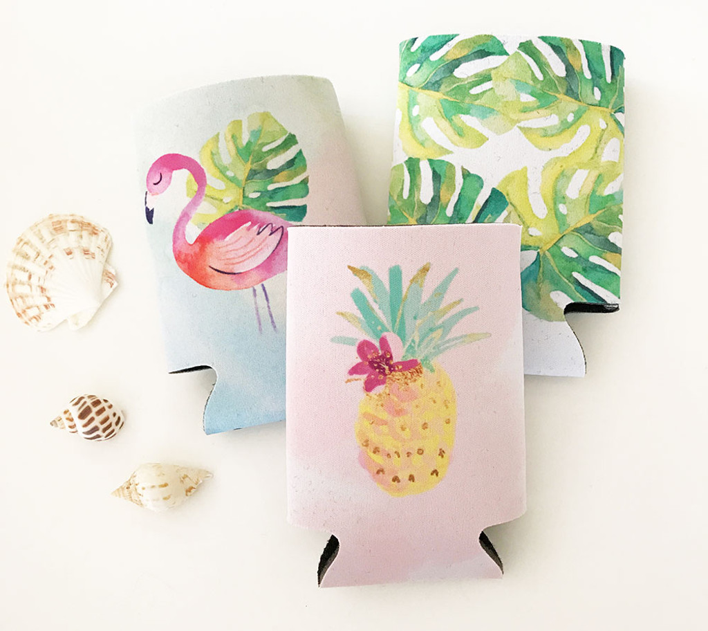 Tropical Can Coolers - Pineapple Koozie (set of 12)
