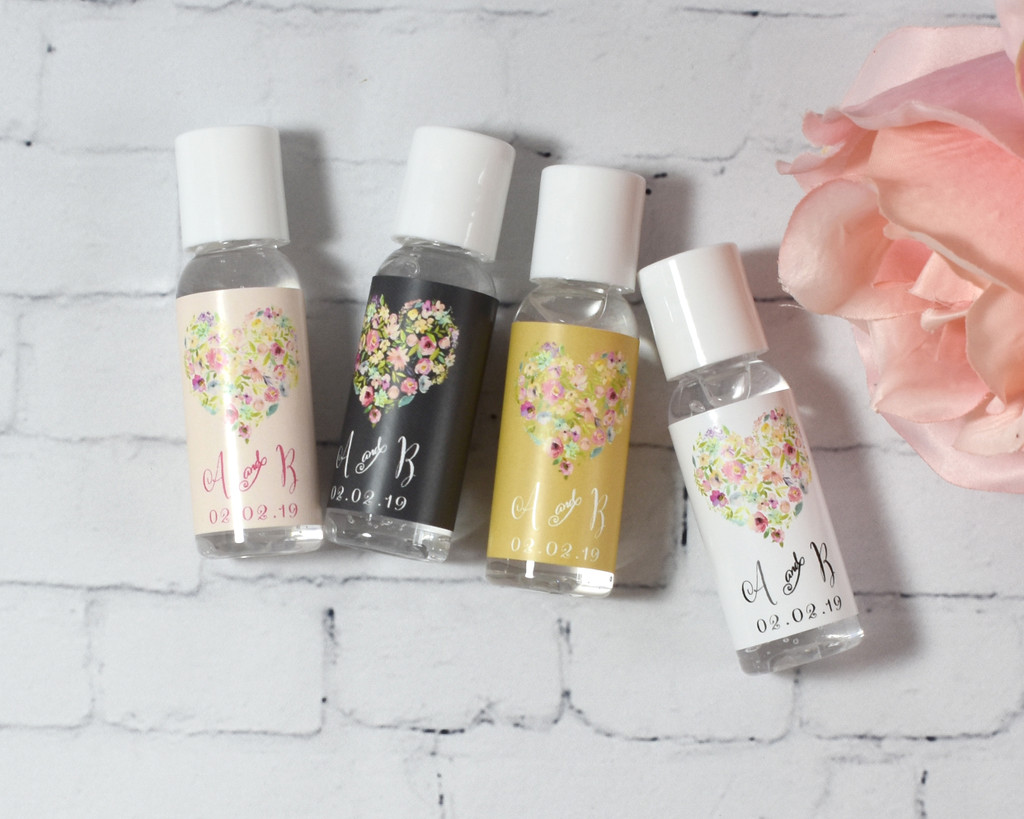 Floral Heart Hand Lotion Favors (set of 12)