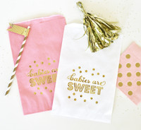 Baby Shower Favor Bags - Candy Buffet Bag - Goodie Bags - Babies are Sweet 24ct