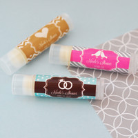 Personalized Lip Balm Favors - Party Favors for Bridal Shower 24ct