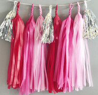 Bridal Shower Tassel Garland, DIY Garland