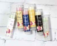 Wedding Favors - Bridal Shower Lip Balm Favors - Chapstick Favor 24ct