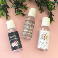 Personalized Floral Garden Hand Sanitizer 12ct
