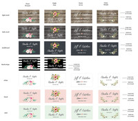 Water Bottle Labels - Weatherproof Floral Garden 25ct