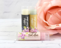 Chic Watercolor Lip Balm Favor - Bridal Shower Lip Balm Favors 24ct