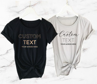 Custom Text T-Shirt - Fitted