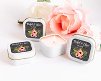 Personalized Wedding Favor Candle - Vintge Wedding Favor Candles (Set of 12)