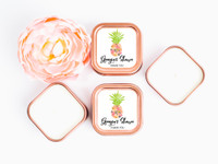 Aloha Quinceanera Candle Favors - Pineapple Candle Favors (Set of 12)