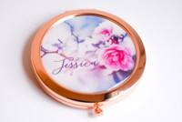 Winter Rose Compact - Unique Personalized Gift Mirror (1ct)