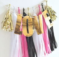 Bridal Shower Tassel Garland, Love Tassel Garland