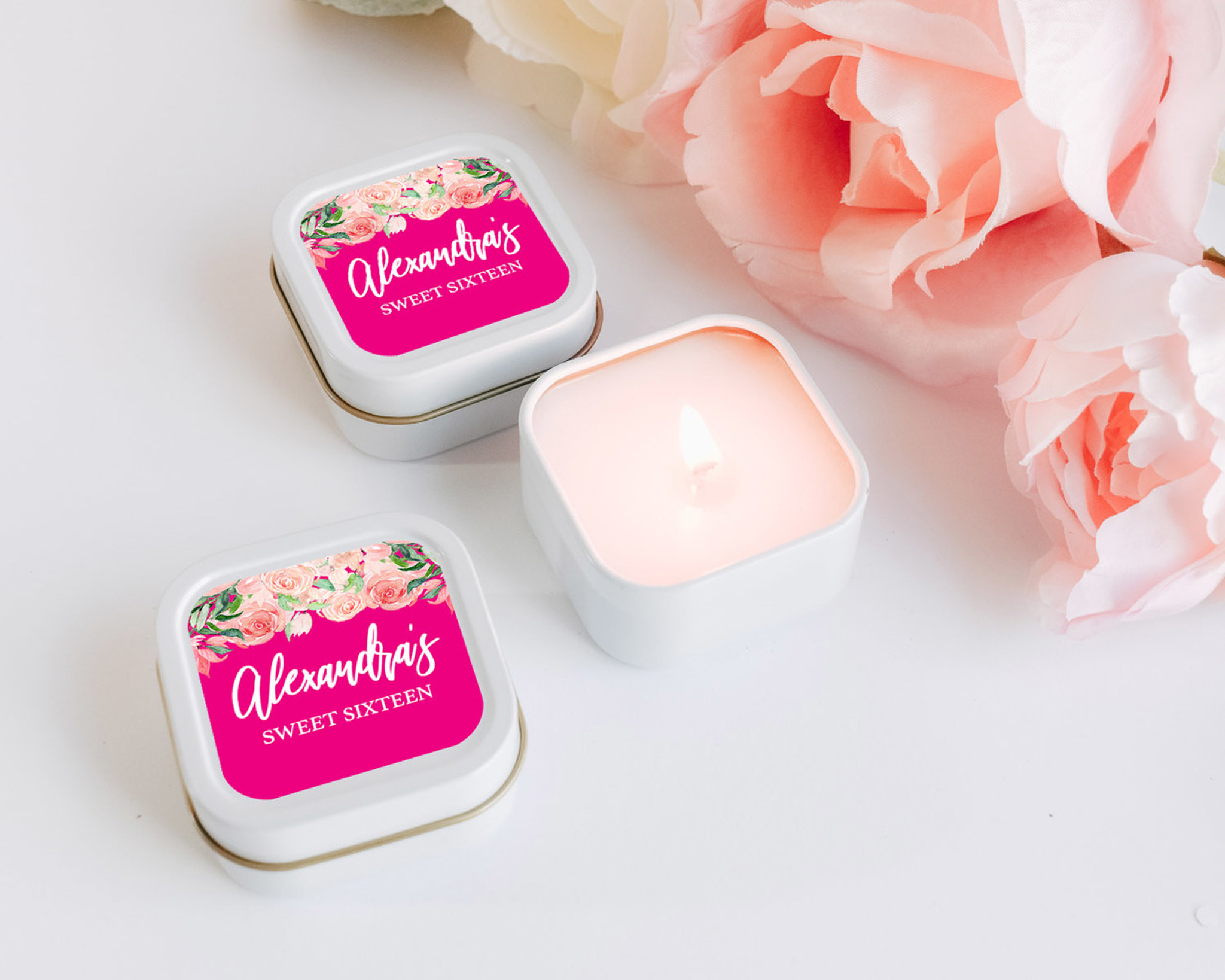 Quinceanera Candle Favors Personalized Candles Sweet Sixteen Favors Set Of 12