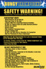Bungee Trampoline Safety / Rules Sign - Sentra-PVC