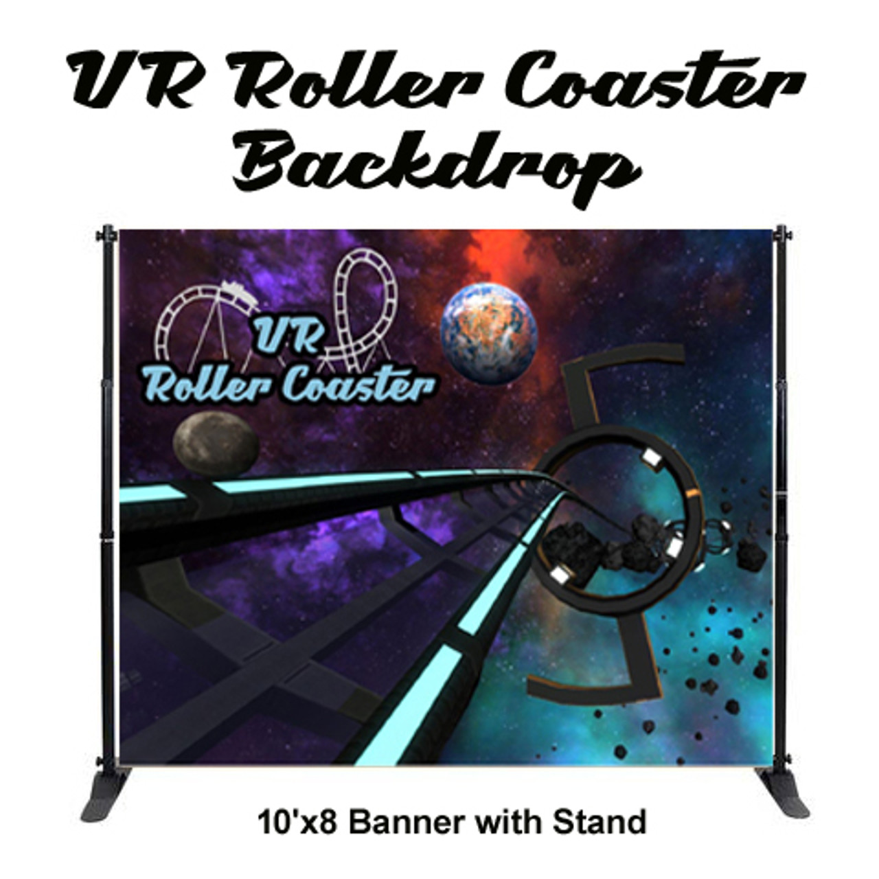 10' x 8' VR Background and Stand