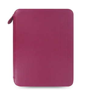 Classic Filofax design is given a modern update in this Pennybridge folio. Contains a protective and secure pocket for an iPad or similar sized tablet plus a notepad, other useful pockets and a pen loop. Left Hand Details: one vertical slip pocket, two zipped pockets Right Hand Details: one vertical slip pocket, one notepad pocket, one elastic pen loop   Contents-  A4 Ruled Notepad Material Exterior: pu with classic leather grain effect Material Interior: polyester lining   Dimensions- Height: 32cm Width: 25cm Depth: 3cm Closure Detail: zip closure with PU zip pull  | Organiser World