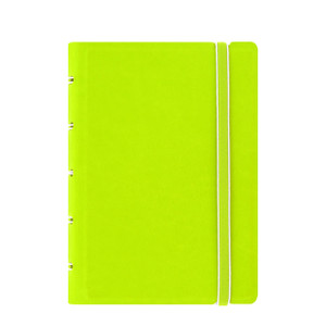 Filofax Notebooks offer the simplicity of a notebook but with the flexibility for personalisation. The unique and clever construction allows the premium pages to be easily added, removed or repositioned. Unlike most other notebooks it folds back on itself and lies perfectly flat when open. Special Features: classic leather-look cover twin wire spine secure elastic closure moveable coloured index with pocket moveable page marker/ruler 56 x 100 gsm ruled pages free sample refill pack includes 4 x squared and 4 x plain pages pages compatible with A5 and A4 Filofax Notebooks Material Exterior: soft touch leather-look cover  Dimensions-   Height: 14.4cm Width: 10.5cm Depth: 2cm  |  Organiser World