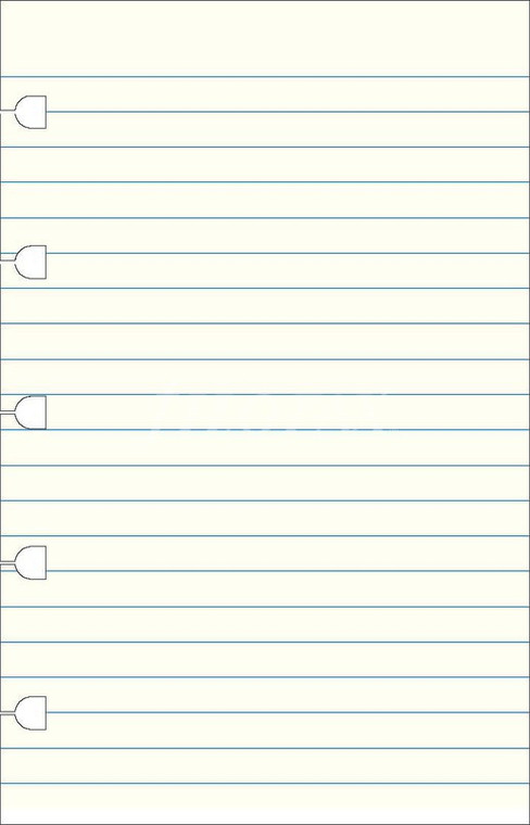 Ruled Notepaper (Pocket)