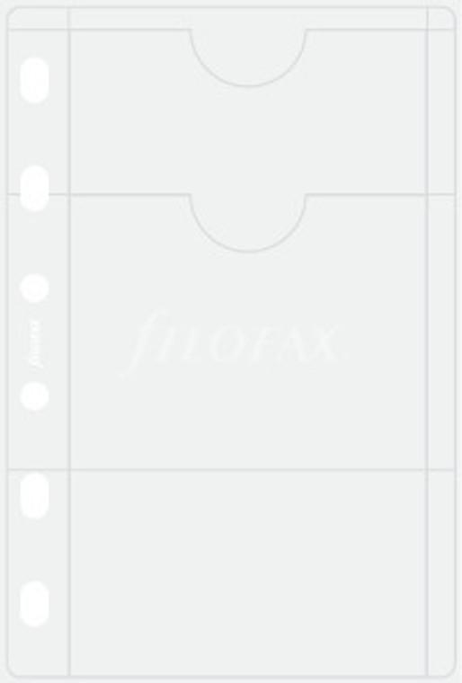 Filofax Pocket Refill - PVC Card Holder   | Organiser World