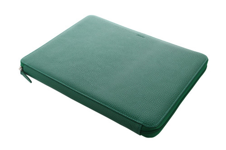Finsbury A4 Zip Folio Forest Green