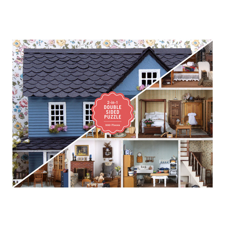 500 Piece Puzzle - Phat Dog Vintage Dollhouse [Double-Sided]