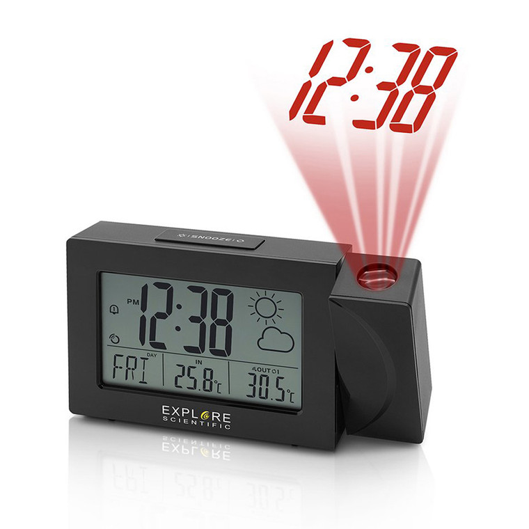 RPW3008 Weather Projection Clock - Black