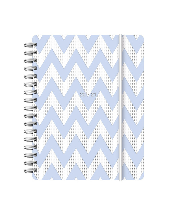2020-2021 Chevron Week to View Academic Diary Blue (Multi-Language)[A6]