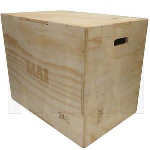 MA1 3 in 1 Wooden Plyometric Box - 20, 24 & 30 Inch