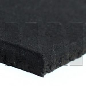 MA1 Rubber Gym Mat - 1M x 1M x 15mm, Plain Black