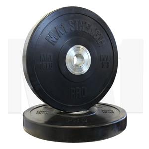 MA1 Pro Bumper Plates Black 15kg (Pairs)