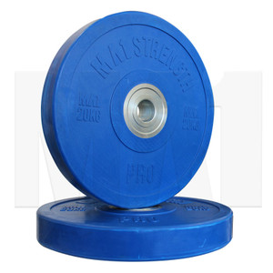 MA1 Pro Bumper Plates Colored 20kg Blue (Pairs)