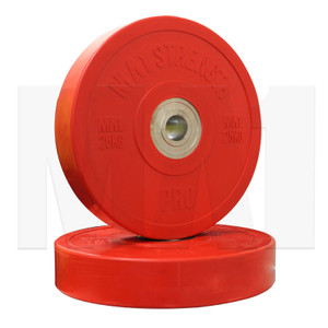 MA1 Pro Bumper Plates Colored 25kg Red (Pairs)