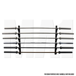 MA1 Wall Mounted Olympic Bar Holder - Gun Rack