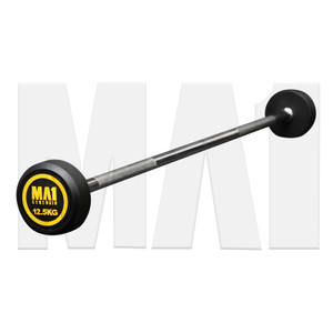 MA1 Fixed Rubber Barbell 12.5kg