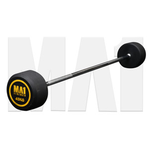 MA1 Fixed Rubber Barbell 45kg