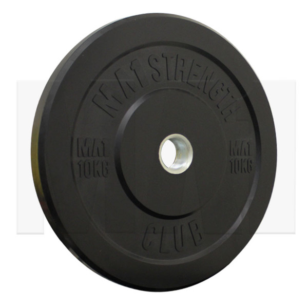 MA1 Club Bumper Plates Black 25lb (Pair)