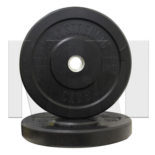 MA1 Club Bumper Plates Black 35lb (Pair)