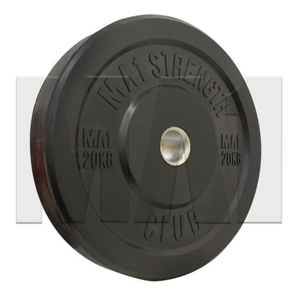 MA1 Club Bumper Plates Black 45lb (Pair)