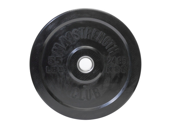 MA1 Club Bumper Plates Black 55lb (Pair)