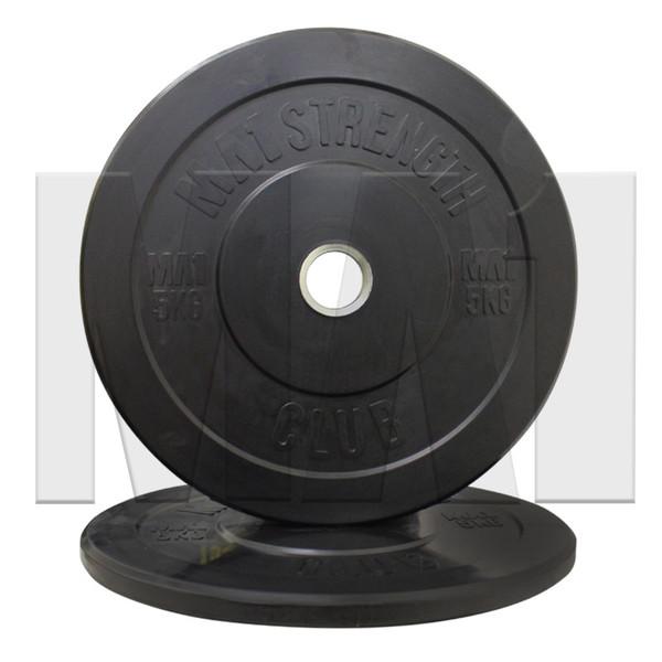 MA1 Club Bumper Plates Black 15lb (Pair)