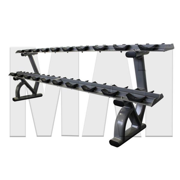 MA1 Elite Dumbbell Rack - 2 Tier 10 Pairs Saddle Rack